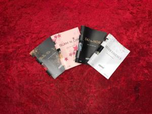 Combo mẫu thử 4 mùi: Silver Esence, Glam N Chic, Belle De Nuit, Eau De Noir