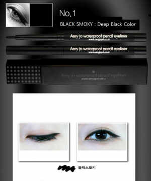CHÌ KẺ VIỀN MẮT AERY JO WATERPROOF PENCIL EYELINER #No 01 (Black smoky)