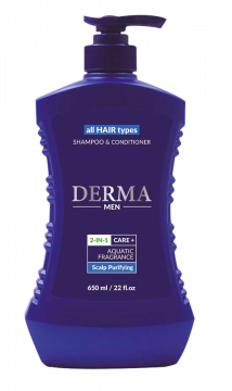 Dầu Gội & Xã Derma 2 in 1 Care+ Aquatic Fragrance Scalp Purifying