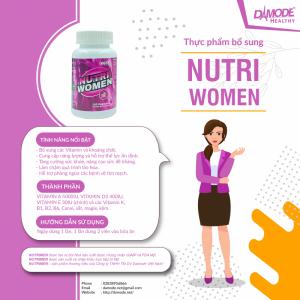 NutriWomen: Vitamin, Khoáng Chất, Tăng sức đề kháng cho nữ