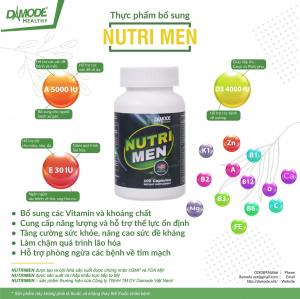 NutriMen : Vitamin, khoáng chất, tăng sức đề kháng cho Nam